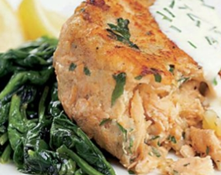 Salmon Fishcake with Sorrel Sauce